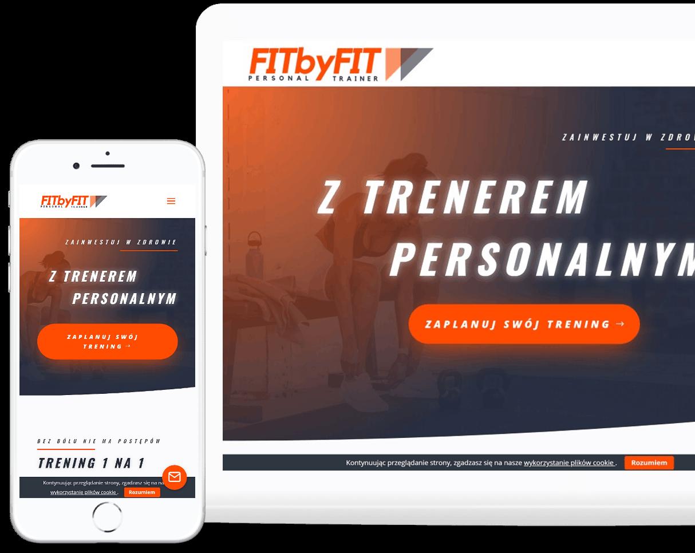 Projekt strony internetowej dla trenera personalnego
