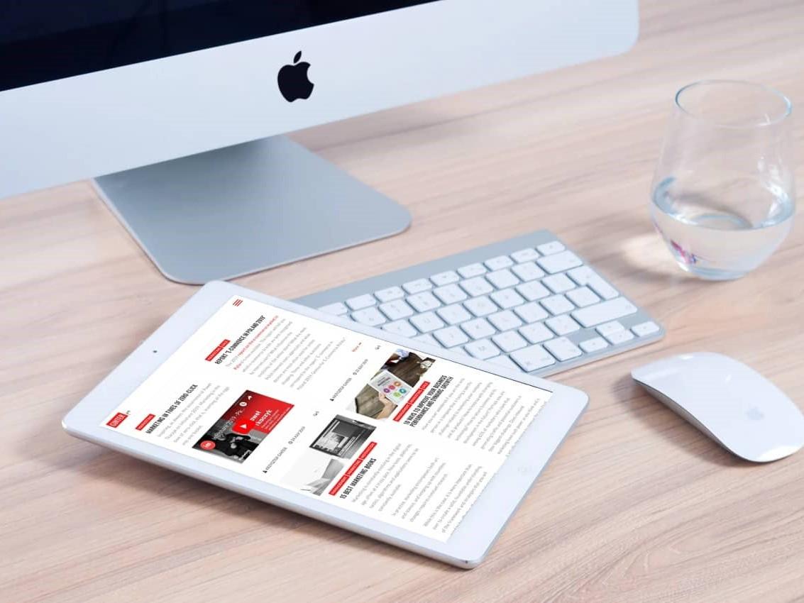 Projekt strony internetowej dla blogera - tablet - Agencja Marketingowa OzonMedia z Wrocławia