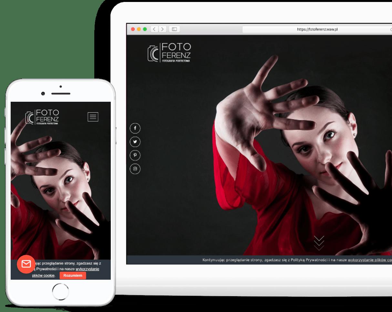 Projekt strony internetowej dla fotografa - OzonMedia
