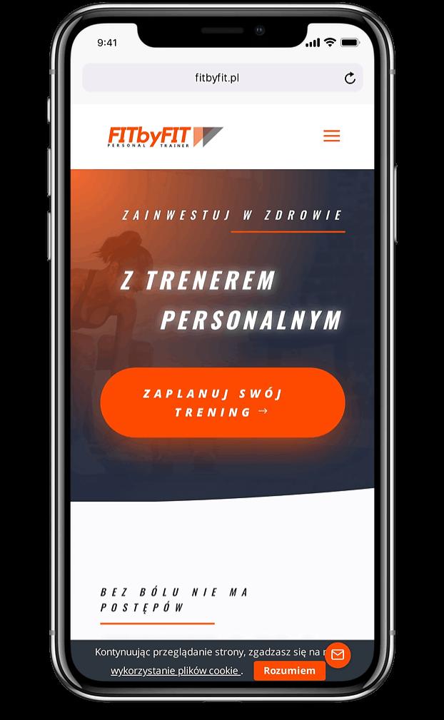 Projekt strony internetowej dla trenera personalnego - mobile