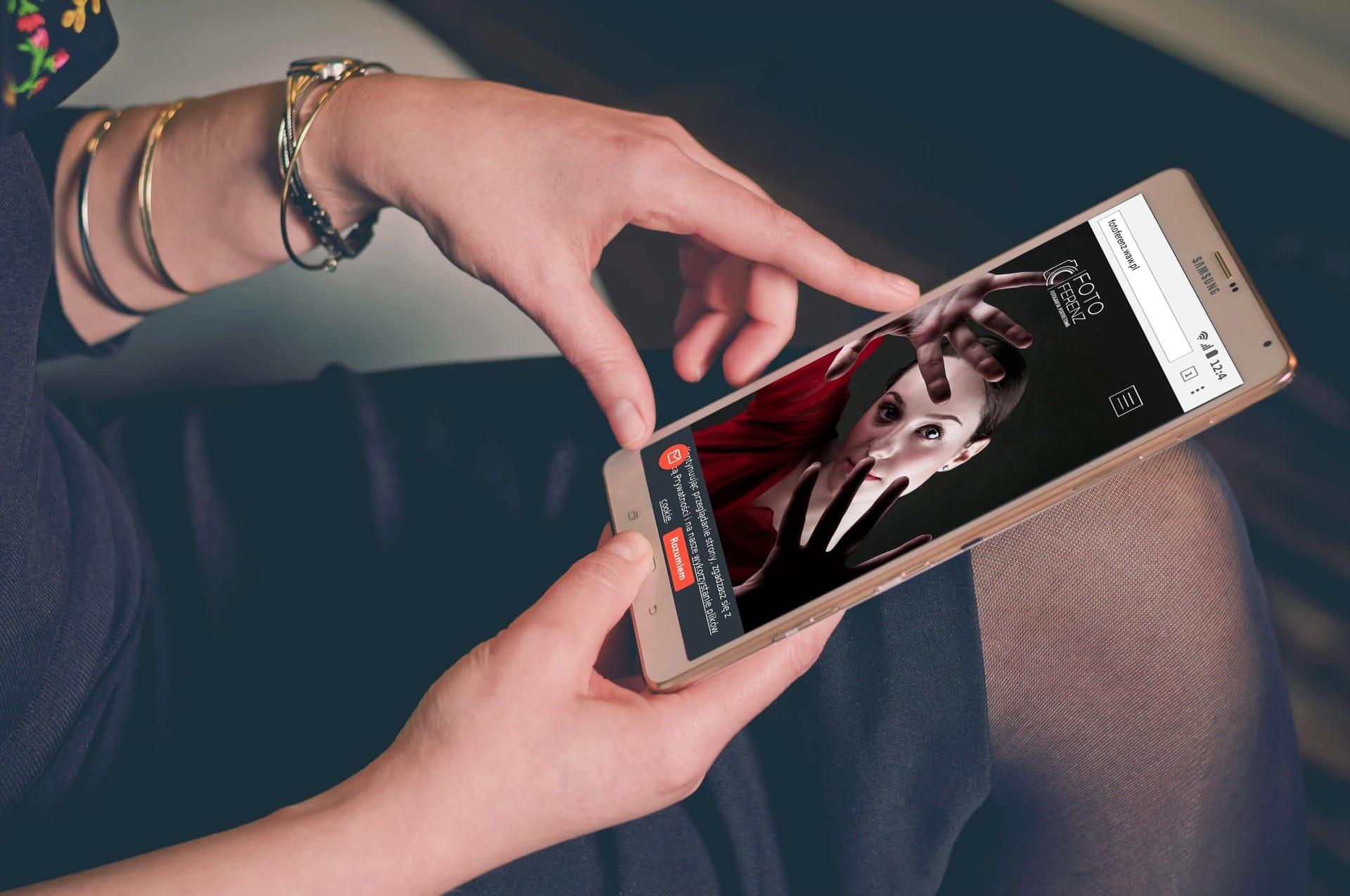 Projekt strony internetowe dla fotografa - mobile - Agencja Marketingowa OzonMedia z Wrocławia