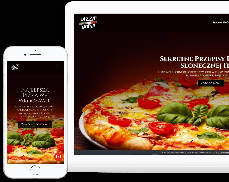 Strona internetowa dla restauracji pizerri