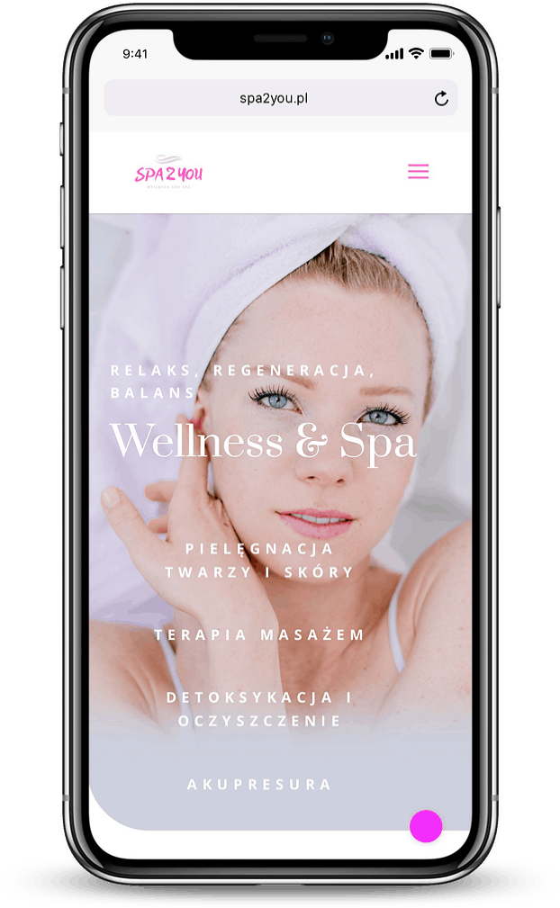 Projekt strony internetowej dla spa i wellness - mobile - Agencja Marketingowa OzonMedia
