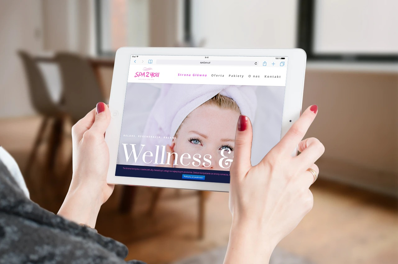 Projekt strony internetowej dla spa i wellness - tablet - Agencja Marketingowa OzonMedia