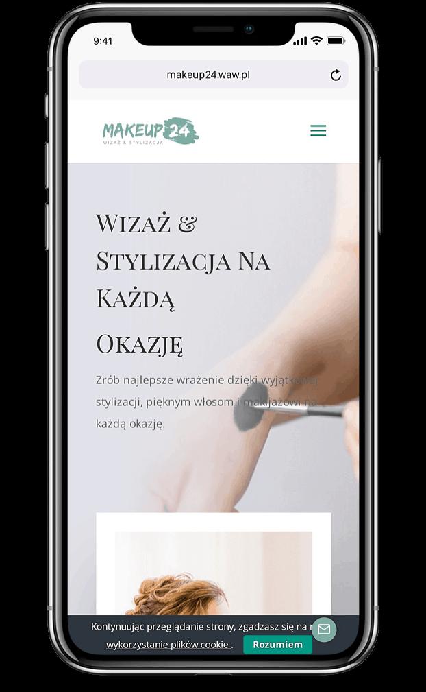 Projekt strony internetowej dla stylistki wizażystki - mobile - Agencja Marketingowa OzonMedia
