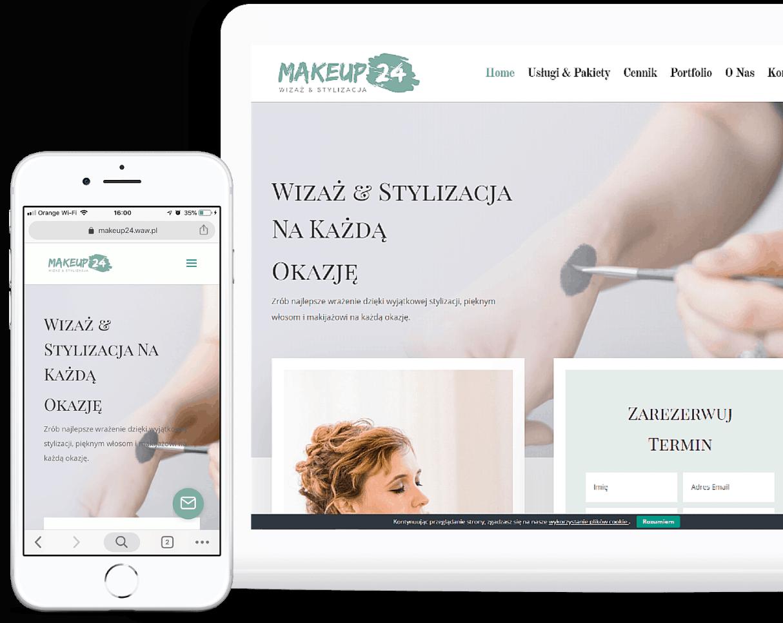 Projekt strony internetowej dla stylisty wizażysty - OzonMedia