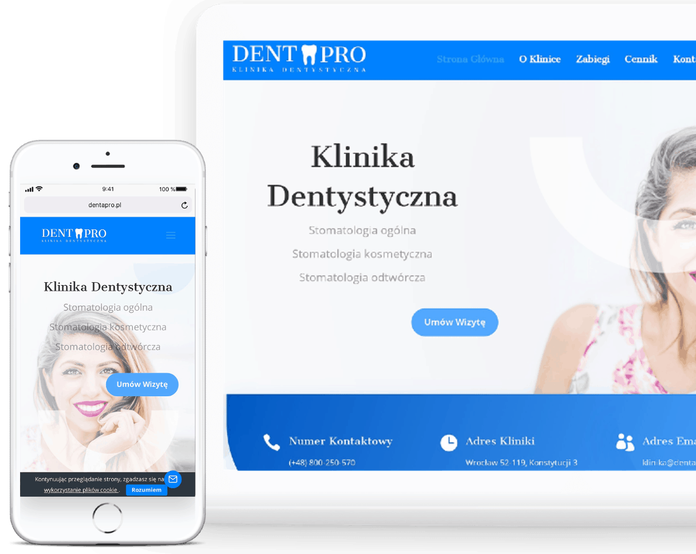 Projekt strony internetowej dla kliniki dentystycznej - OzonMedia