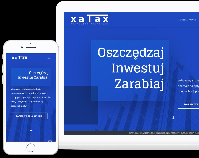 Projekt strony internetowej dla kancelarii podatkowej - Agencja Marketingowa OzonMedia z Wrocławia