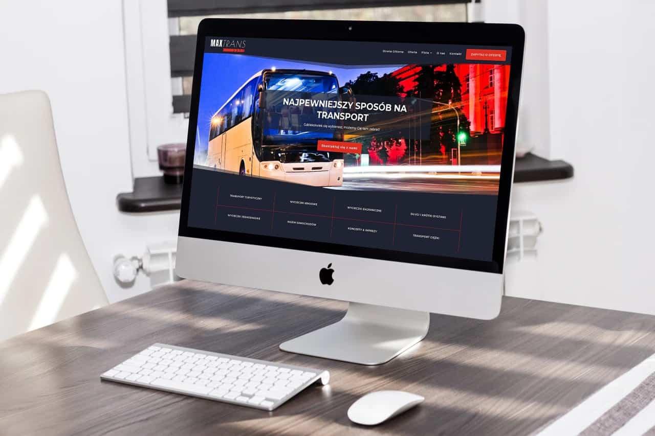 Strona internetowa dla firmy transportowej z Wrocławia - Agencja Marketingowa OzonMedia - desktop