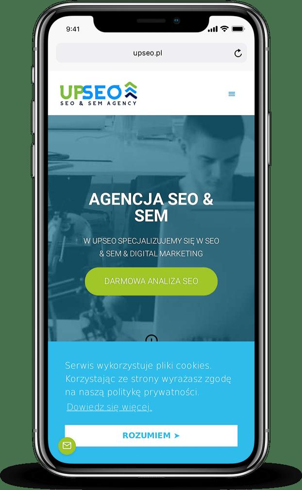 Projekt strony internetowej dla agencji interaktywnej - mobile - Agencja Marketingowa OzonMedia z Wrocławia