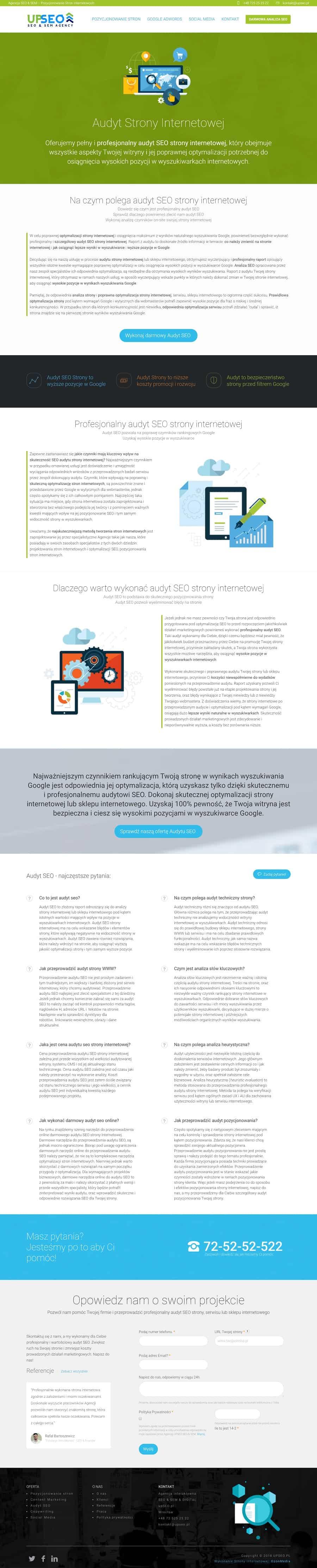 Projekt strony internetowej dla agencji interaktywnej - Agencja Marketingowa OzonMedia