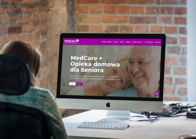 Strona internetowa dla Centrum Opieki