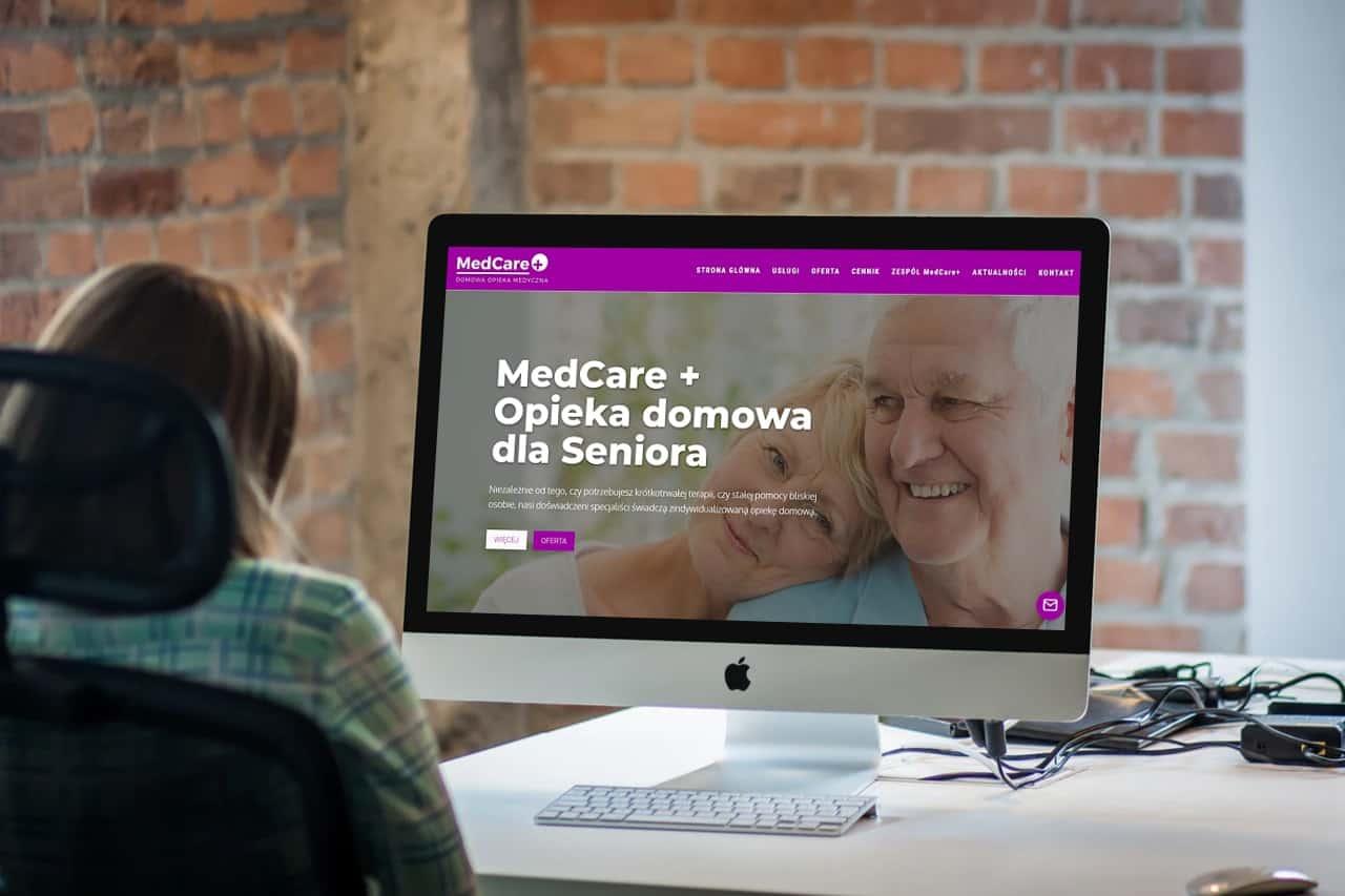 strona internetowa dla centrum opieki nad ozobami starszymi - desktop - OzonMedia