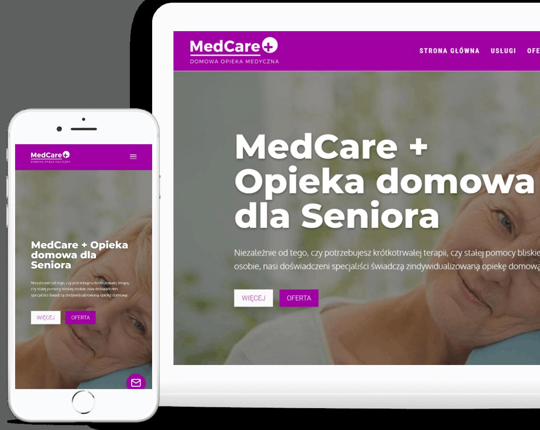 strona internetowa dla centrum opieki nad ozobami starszymi - rwd - OzonMedia