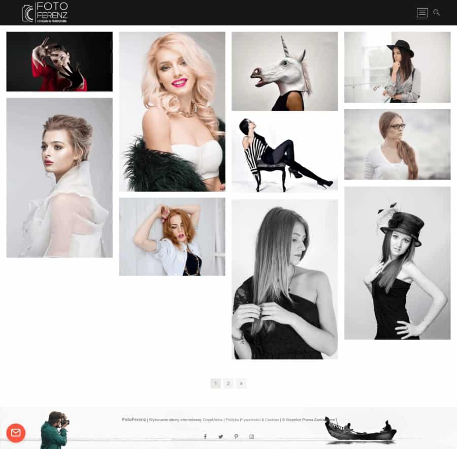 Projekt strony internetowe dla fotografa - Agencja Marketingowa OzonMedia z Wrocławia