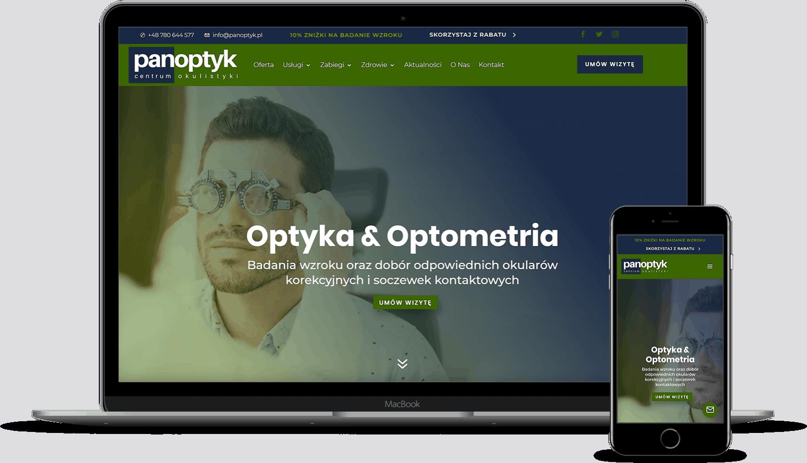 strona internetowa dla okulisty i optometry wroclaw - agencja marketingowa OzonMedia (2)