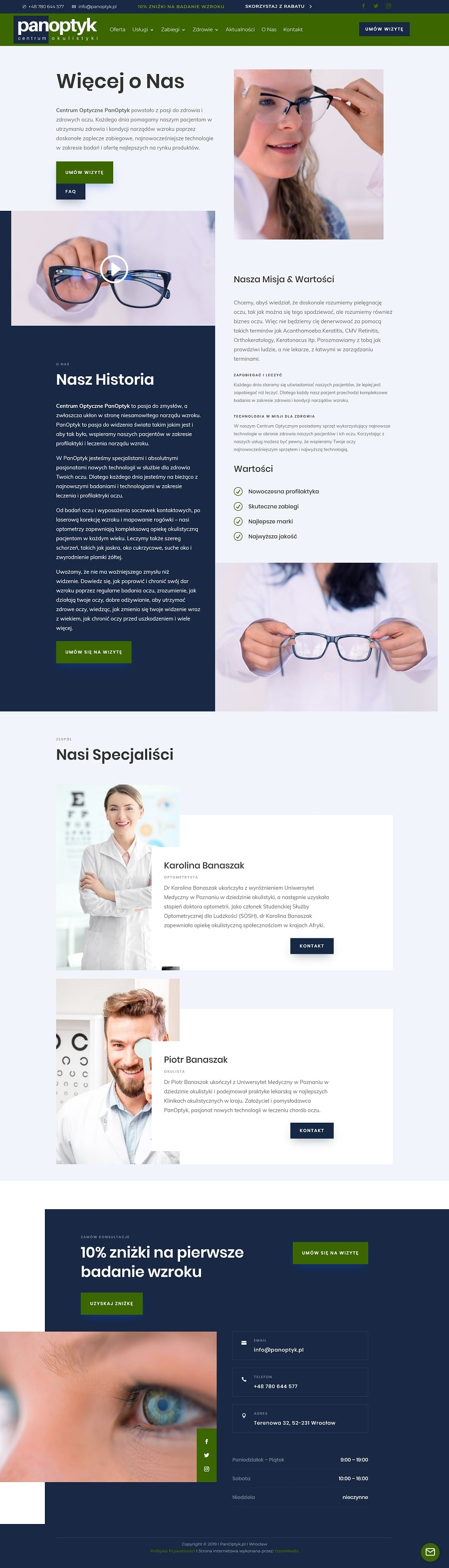 strona internetowa dla okulisty i optometry wroclaw - agencja marketingowa OzonMedia (3)