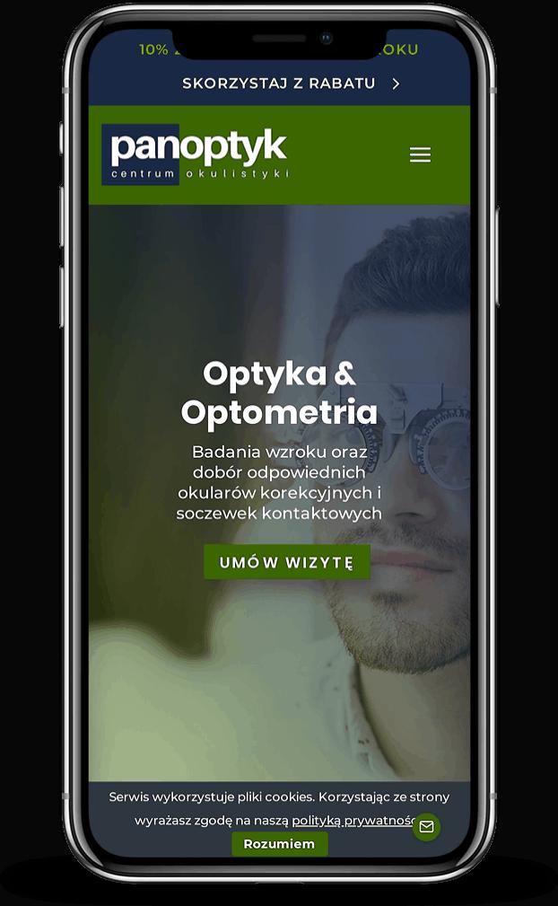 Strona internetowa dla okulisty - mobile - Agencja Marketingowa OzonMedia z Wrocławia