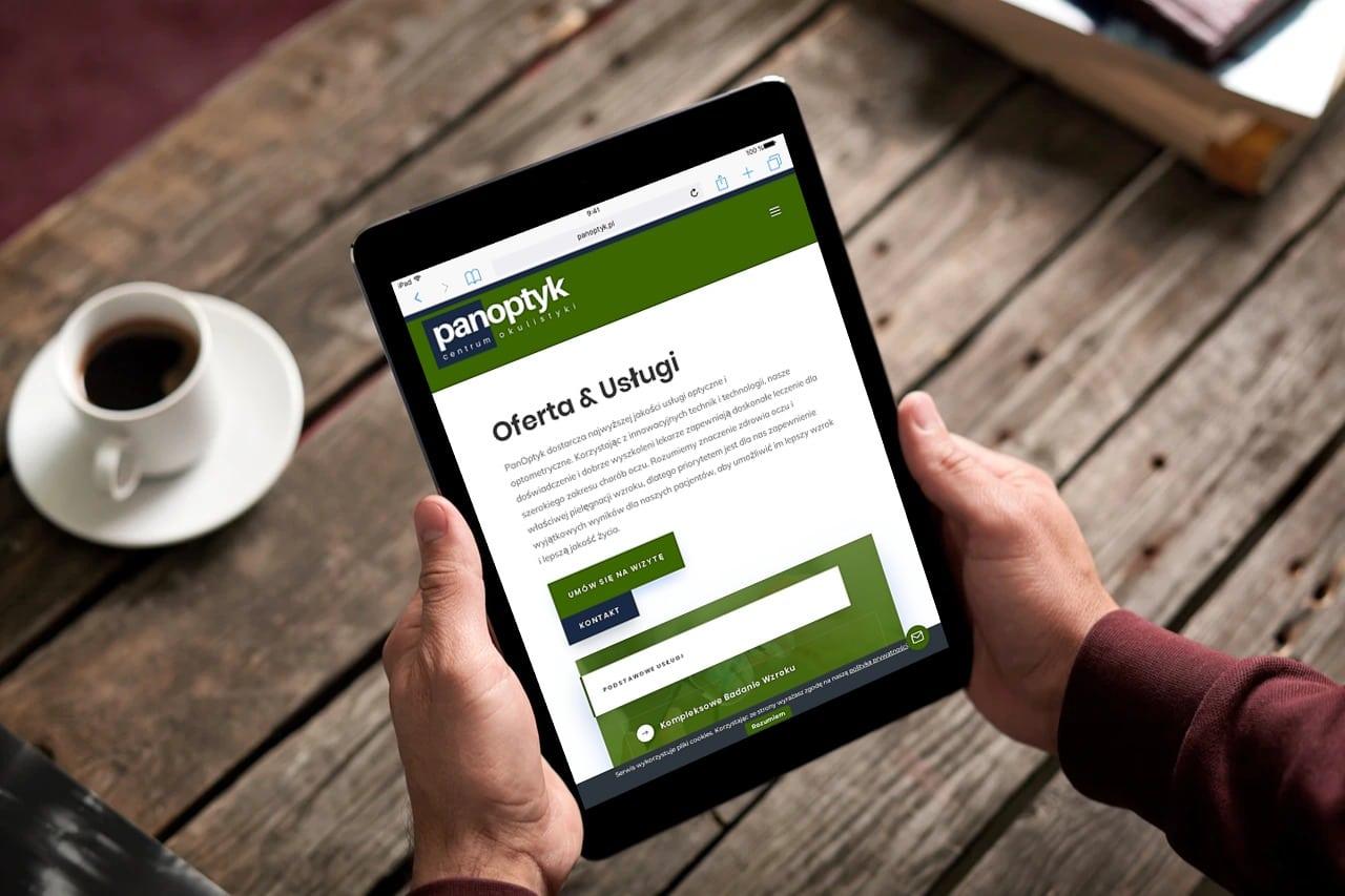 strona internetowa dla okulisty i optometry wroclaw - agencja marketingowa OzonMedia