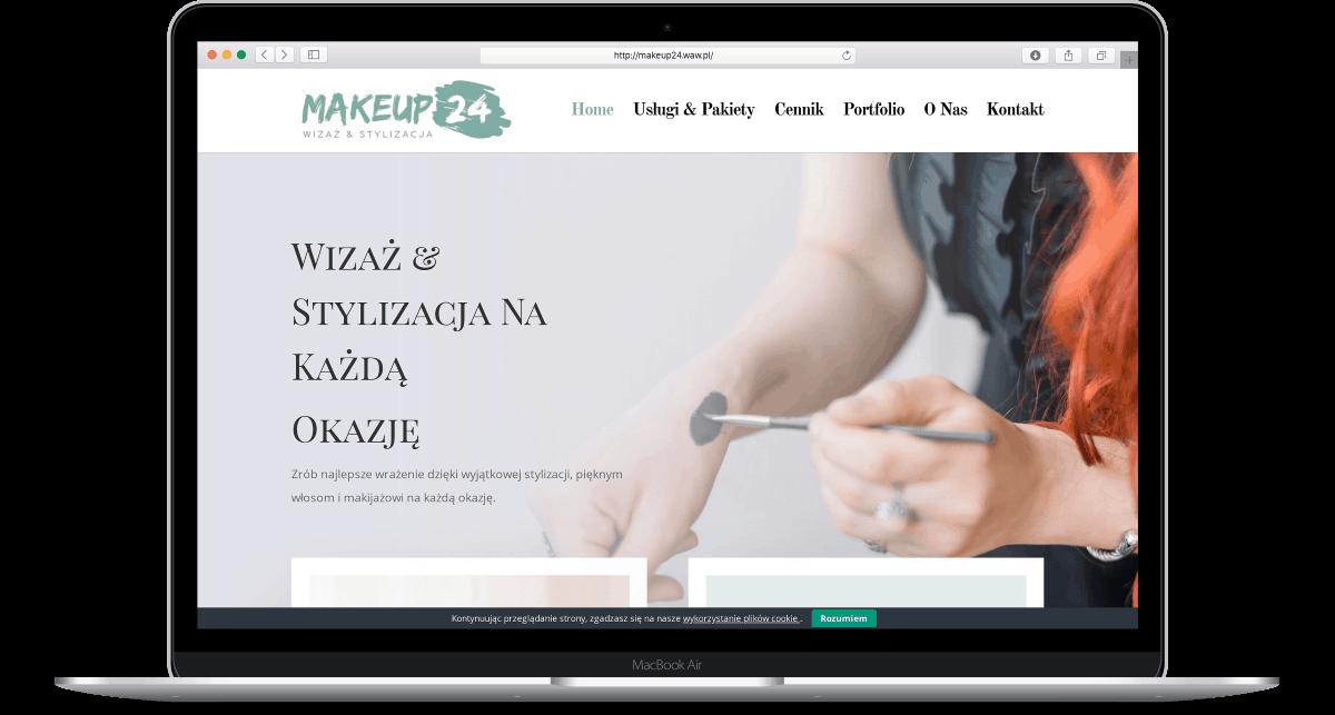 Projekt strony internetowej dla stylistki wizażystki - laptop - Agencja Marketingowa OzonMedia
