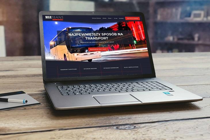 Projekt strony internetowej dla firmy transportowej - Agencja Marketingowa OzonMedia