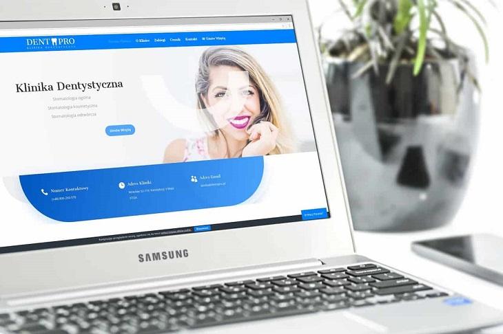Projekt strony internetowej dla kliniki stomatologicznej - Agencja Marketingowa OzonMedia