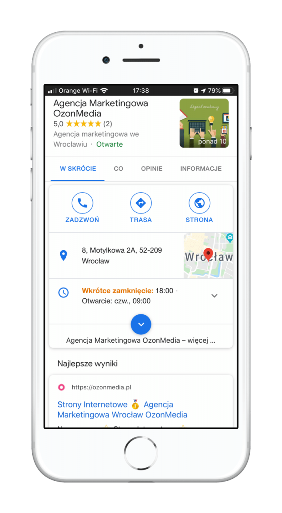 google moja firma agencja marketingowa wrocław