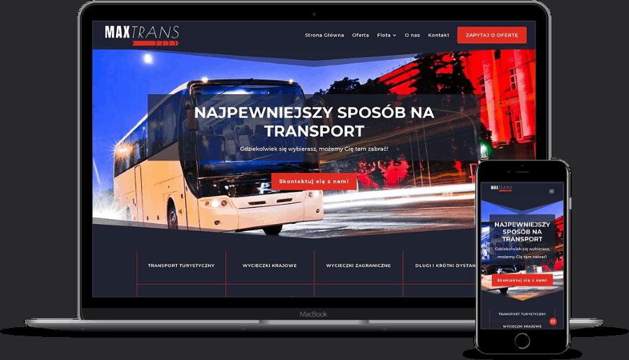 projekt strony internetowej dla firmy transportowej
