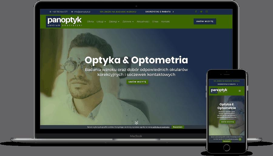 projekt strony internetowej dla okulisty