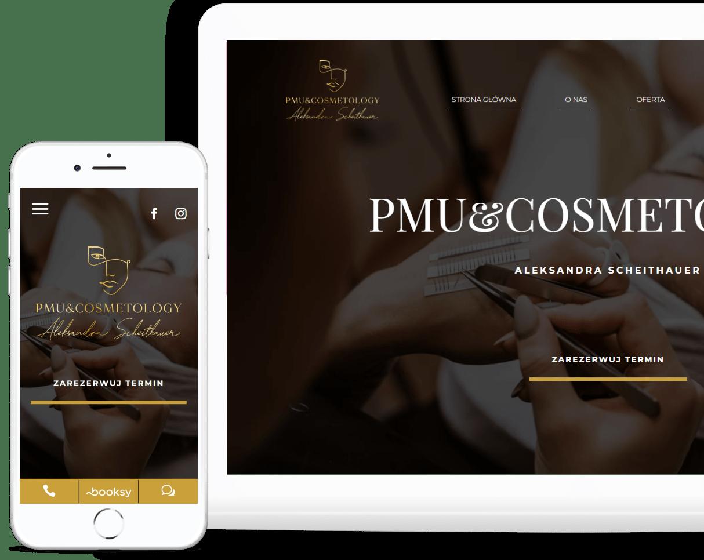 strona internetowa dla salonu kosmetycznego RWD - Agencja Marketingowa OzonMedia