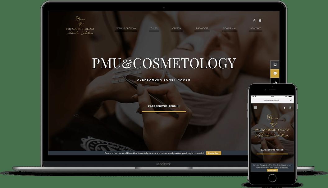 strona internetowa dla salonu kosmetycznego RWD - Agencja Marketingowa OzonMedia Wrocław