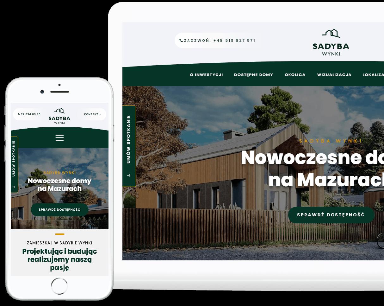 projekt strony internetowej dla dewelopera - agencja marketingowa OzonMedia Wrocław