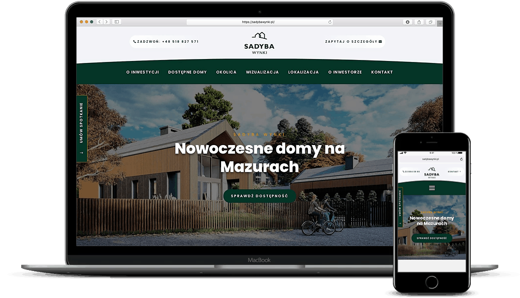 strona internetowa dla developera