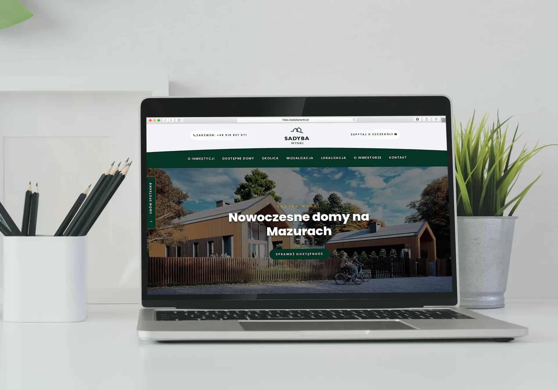strona internetowa dla developera z Warszawy