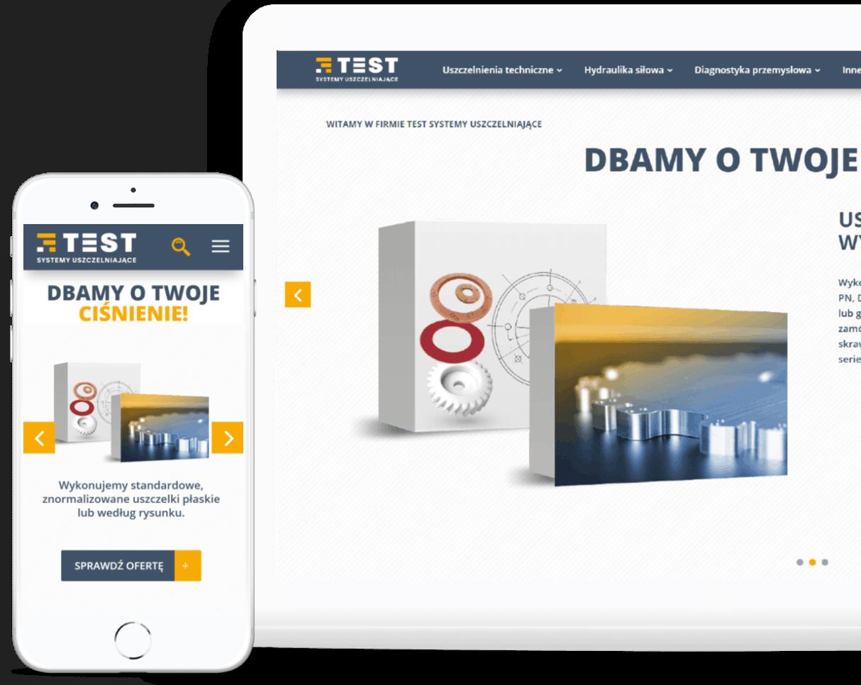 strona internetowa dla firmy produkcyjnej z branży przemysłowej