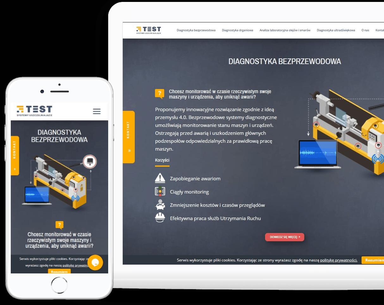 strona internetowa dla firmy przemysłowej rwd