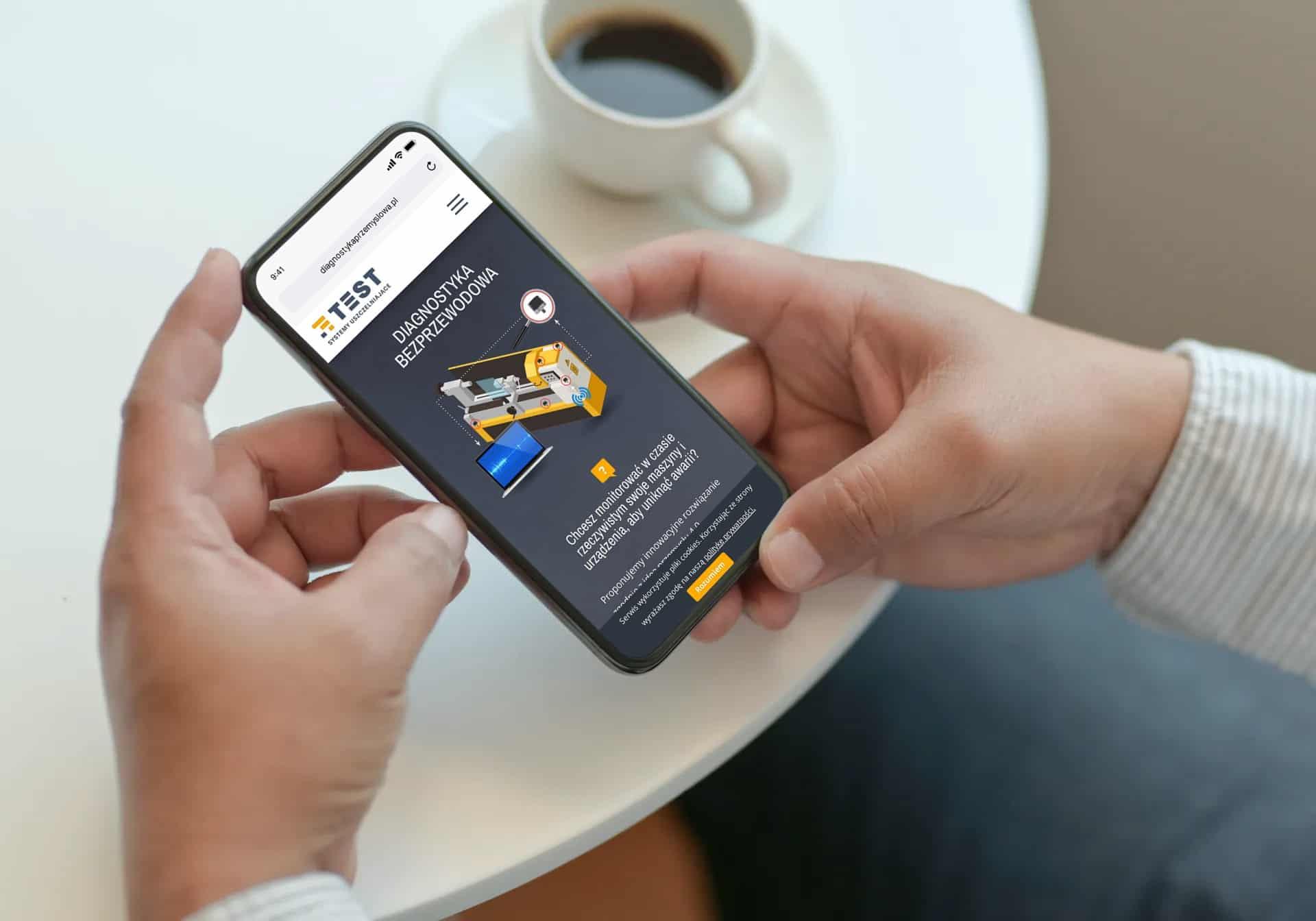 strona internetowa dla firmy przemysłowej telefon komórkowy