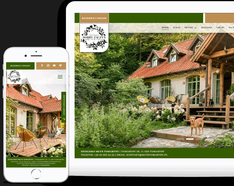 projekt strony internetowej dla agroturystyki i siedliska - agencja marketingowa OzonMedia