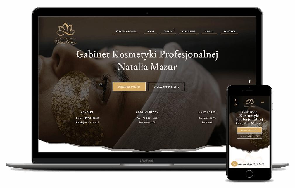 Strona Internetowa dla Gabinetu Kosmetycznego - Agencja Marketingowa OzonMedia Wroclaw (1)