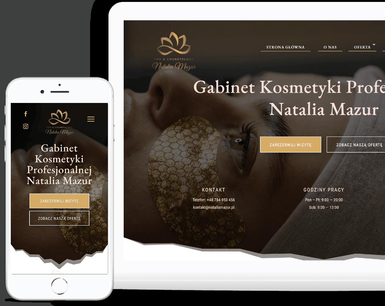 Strona Internetowa dla Gabinetu Kosmetycznego - Agencja Marketingowa OzonMedia Wroclaw (3)