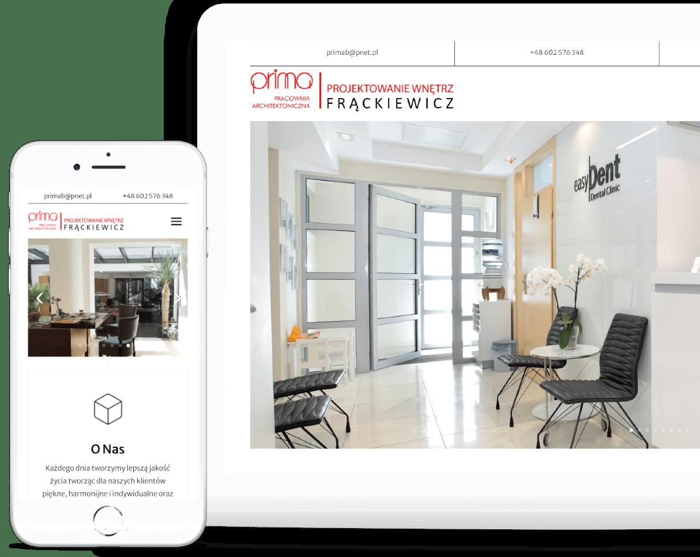 strona internetowa dla architekta - Agencja Marketingowa Ozonmedia Wrocław (rwd)
